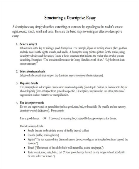 Descriptive Narrative Essay Exles by 7 Descriptive Essay Exles Sles