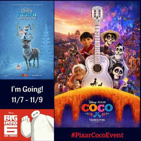 film coco and frozen i am going to the disney pixar coco event pixarcocoevent