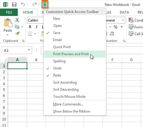 tutorial excel 2013 gratis quick access toolbar backstage view auto recovering