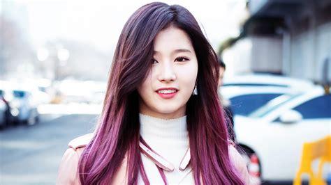 old japanese ladies purple hair sana purple hair twice k pop girl wallpaper 30025