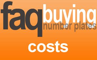 what are the extra costs when buying a house number plate costs the plate market