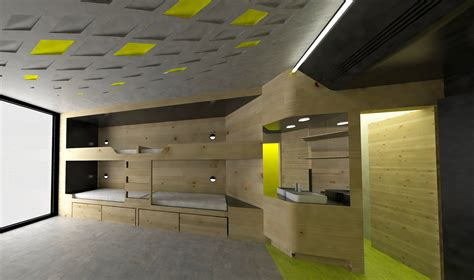 Bathrooms Floor Plans lava reinvents the youth hostel with sport oriented design