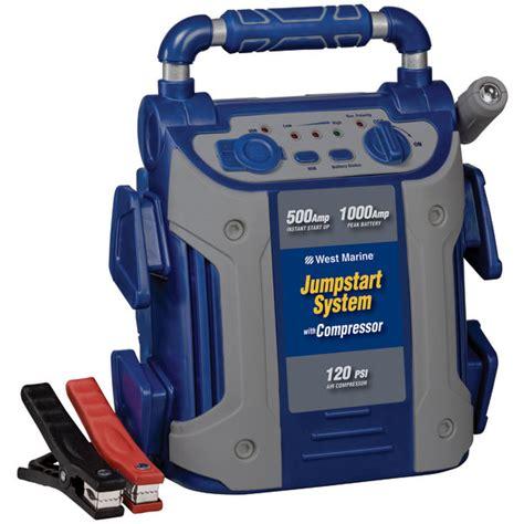 boat battery jump starter west marine 1000 jump starter with compressor west