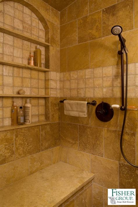 Oversized Shower Floor To Ceiling Tiled Shower With Large Shower Niche And
