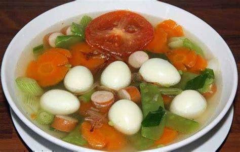 resep   membuat  telur puyuh campur sosis