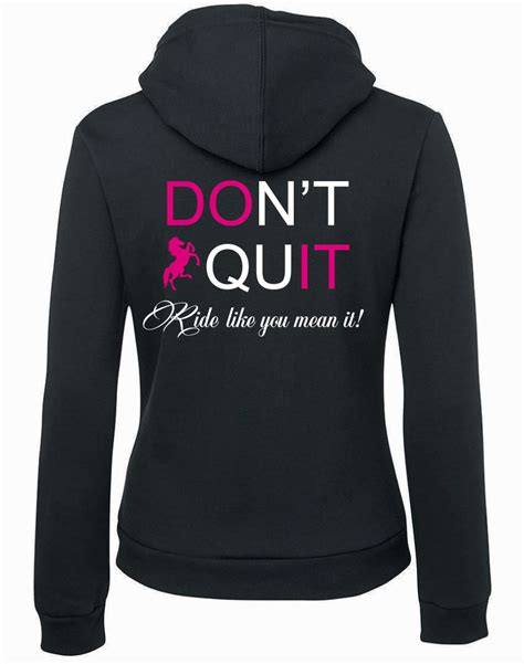 don t quit hoodie wilson equestrian