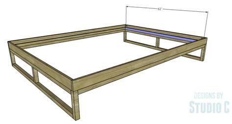 Simple Platform Bed Frame Plans Diy Plans To Build A Modern Rustic Platform Bed