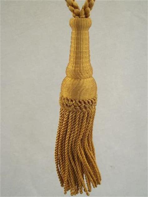 gold curtain tassels vintage curtain tie backs antique gold bullion fringe