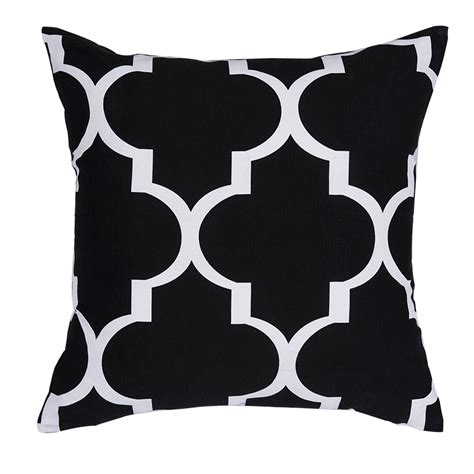 black and white cusions high quality printed geometric cushions decorative throw