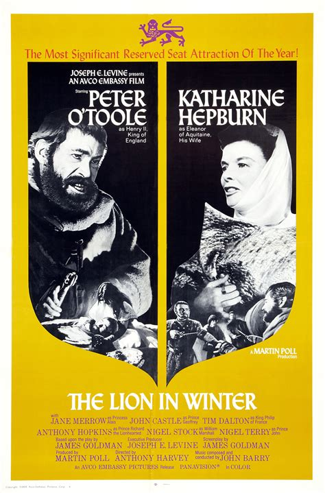 film the lion in winter 1969 drama the lion in winter golden globes