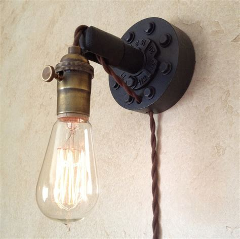 plug in industrial wall sconce retro edison by