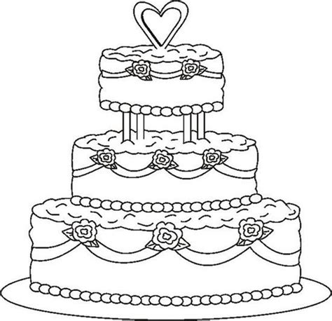 free coloring page of a cake coloring pages cakes coloring pages blank birthday cake