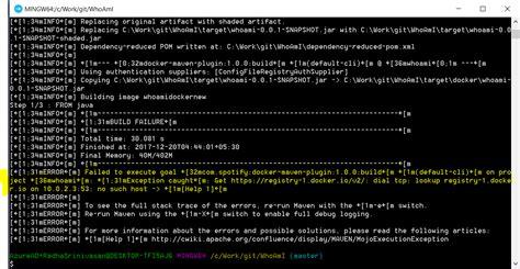 docker tutorial windows 7 maven build error in docker containers on kuberneters on