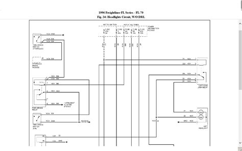 freightliner headlight wiring diagram freightliner columbia wiring diagram with headlight