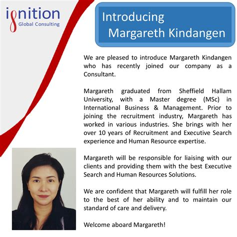 New Employee Announcement Ignition Global New Employee Announcement Template