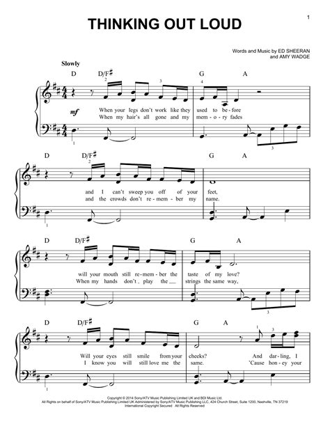 drum tutorial thinking out loud thinking out loud sheet music by ed sheeran easy piano