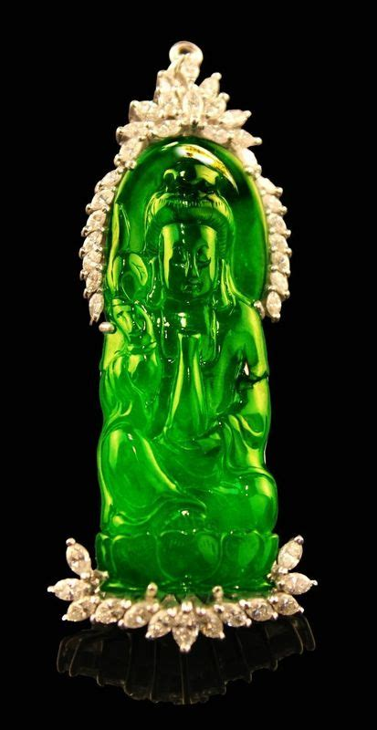 rare chinese carved guanyin natural  translucent