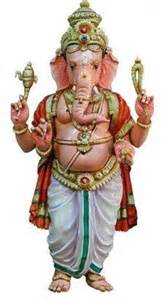 Elephant Statue Ganesh Ganesha Good Luck God With The Elephant Head