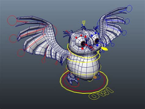 house paper rigged 3d model cartoon owl rigged 3d model maya files free download
