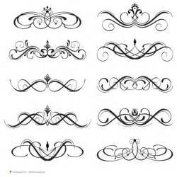 Cornice Corners Digital Flourish Swirl Vector Clip Art Fleur De Lis Retro