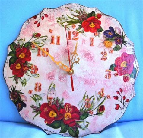 Handmade Articles For Sale - for sale handmade carved wooden wall clock vintage shabby