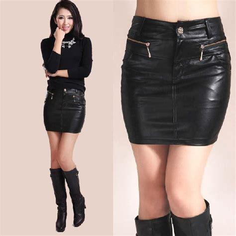 Black Mini Skirt By Tout Coup new 2016 fashion summer skirt black pu