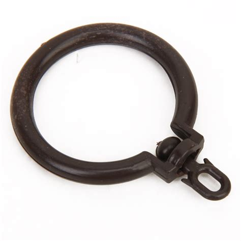 curtain rod rings 3pcs curtain rod rings with eyelet coffee n3 ebay