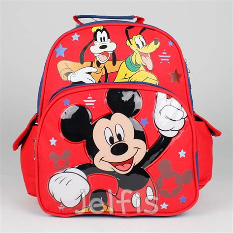 Mickey Small Navy Cp disney mickey mouse backpack friends donald pluto 12 quot small toddler boys bag ebay