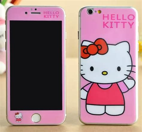 Tempered Glass Hello For Iphone 5 6 6 pink wave word hello luxury sticker for iphone 6 6s