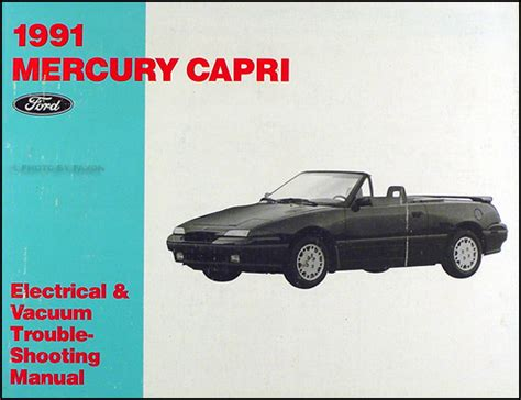 car engine manuals 1985 mercury capri auto manual 1991 mercury capri factory foldout wiring diagram original
