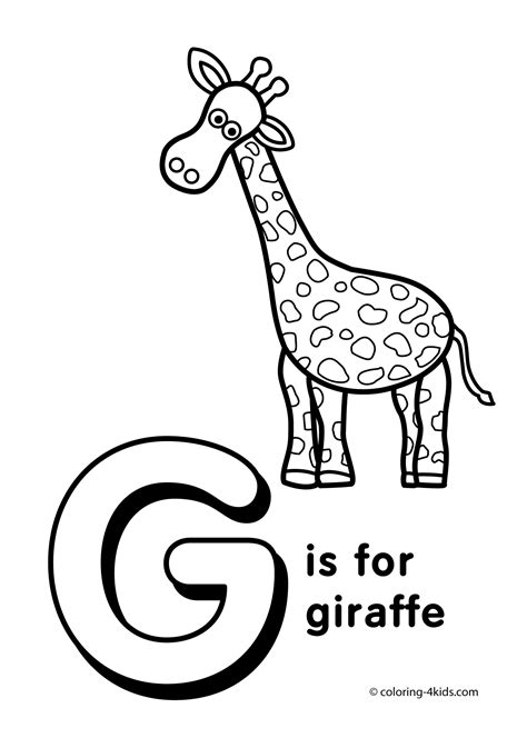 coloring pages of letter g free letter g activities coloring pages