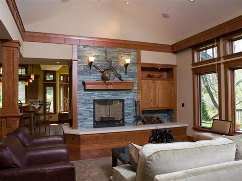 living room design with stone fireplace photo page hgtv