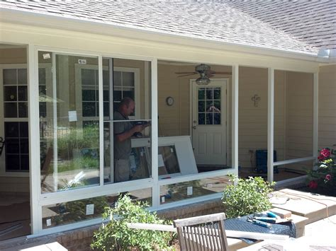 Glass Enclosed Porch screen rooms tallahassee glass patio enclosure project