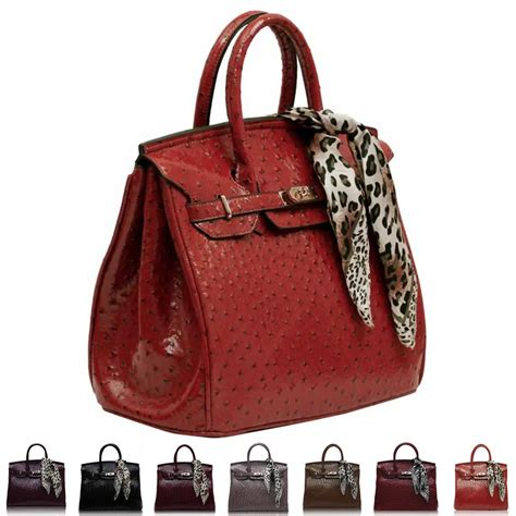 Bid On And Sheryls Designer Bags by New Ostrich Faux Leather Designer Womens Shoulder