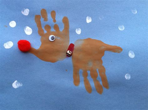 really easy crafts this handprint reindeer craft is a activity