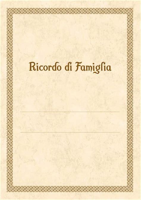 di famiglia quaderno dei ricordi di famiglia