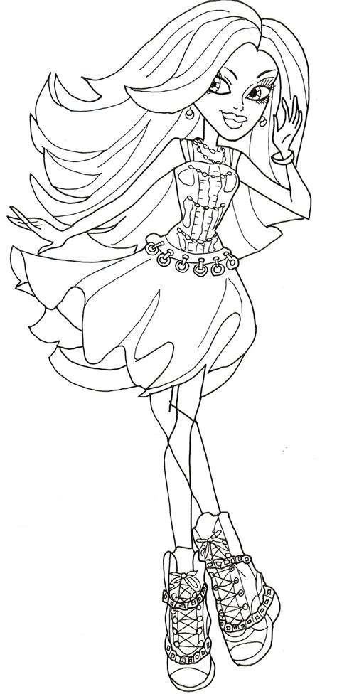 monster high spectra coloring pages free printable monster high coloring pages spectra