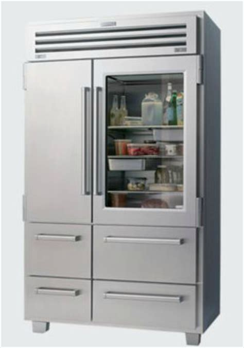 Pro Door And Glass Pro 48 With Glass Door Modern Refrigerators By Sub Zero And Wolf