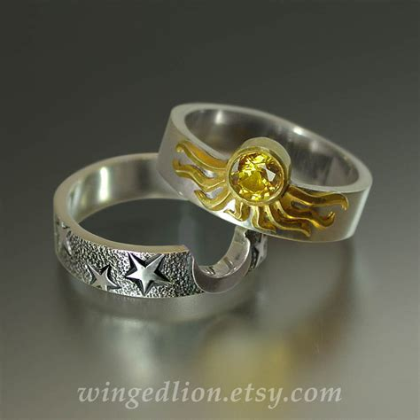 Wedding Ring Eclipse by Sun And Moon Eclipse Engagement Ring And Wedding By Wingedlion