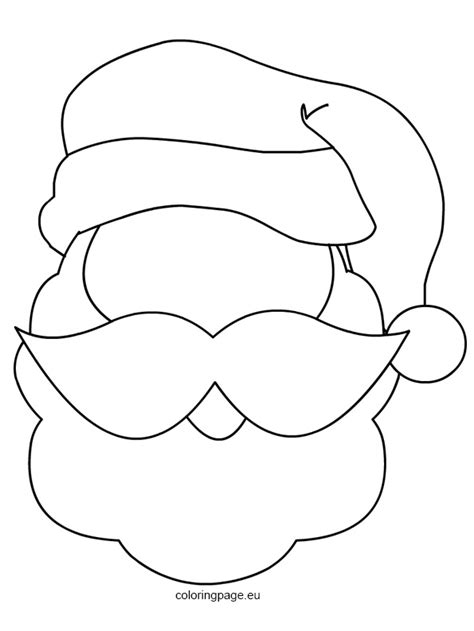 face mask santa claus template merry christmas happy