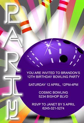 1000 ideas about bowling party invitations on pinterest