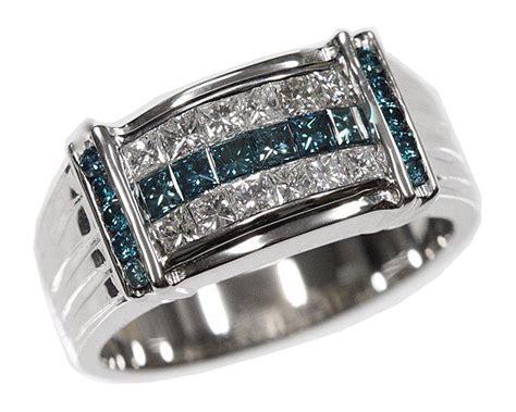 mens blue rings wedding promise