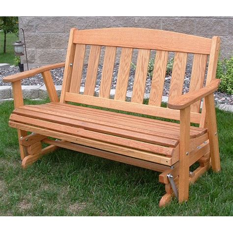 wooden glider swing plans amish outdoor furniture mission solid front porch swing
