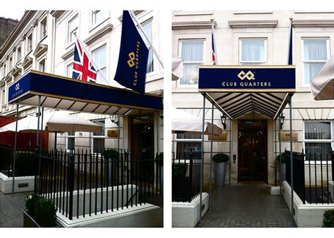 hotel awning morco bespoke awnings and parasols for club quarters hotel