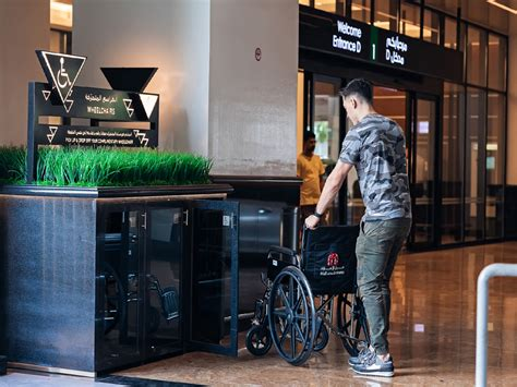 mall   emirates introduces complimentary wheelchair