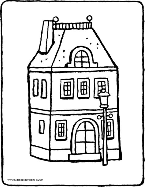 cardboard coloring house coloring cardboard house coloring pages