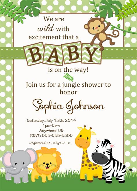 Safari Baby Shower Invitations by 25 Best Ideas About Safari Baby Showers On