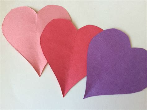 craft paper hearts paper for s day
