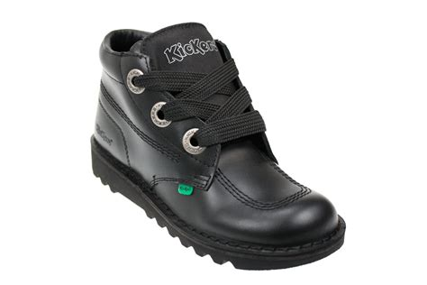 Kickers Safety Boots Sf1 Black kickers kick hi black leather ankle boots mens size 6