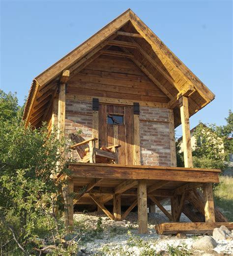 reclaimed getaway cabin on the hillside